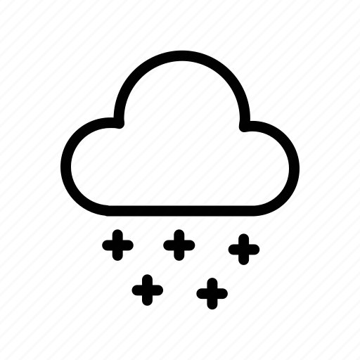 cloud, forecast, nature, snow, thunder, weather, wind icon