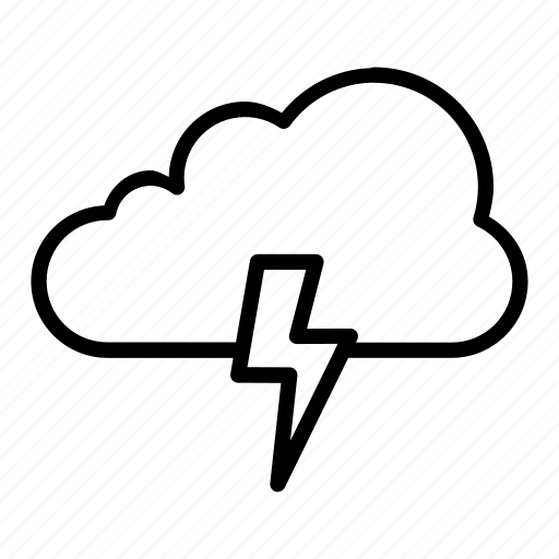 atmosphere, cloud, electricity, weather icon