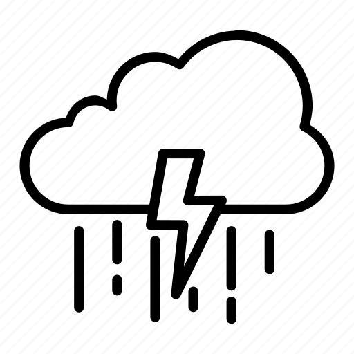 atmosphere, cloud, electricity, rain, weather icon