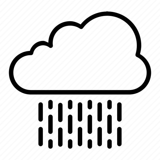 atmosphere, cloud, heavy, rain, weather icon