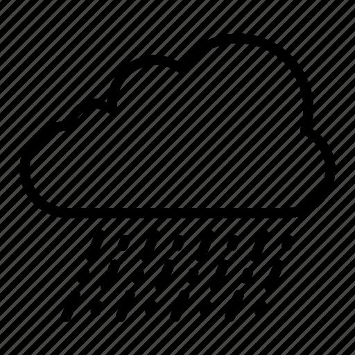 cloud, cross, heavy, rain, weather icon