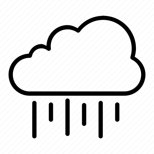 atmosphere, cloud, medium, rain, weather icon