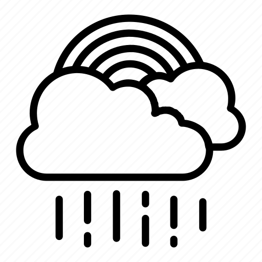 atmosphere, cloud, rain, rainbow, weather icon
