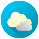 cloud clover, clouds, cloudy, dull weather, forecast, overcast, weather icon