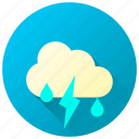 forecast, lightning, storm, stormy, thunder, thunderstorm, weather icon