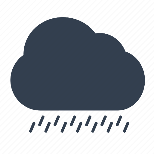 cloud, cloudy, forecast, rain, raining, rainy, weather icon