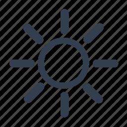 forecast, hot, sun, sunny, warm, weather icon