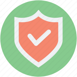firm, lock, safe, secure, shield tick, sure icon