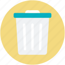 dustbin, garbage can, recycle bin, rubbish bin, trash bin icon