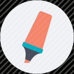 highlighter, highlighter pen, marker, stationery, underline icon