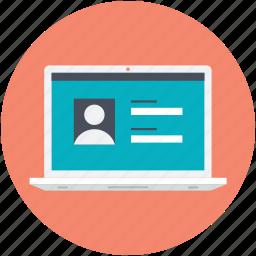 laptop, login, login screen, user account, user interface icon