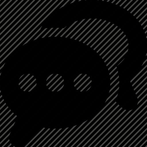 bubbles, chat, comments, conversation, talk, web icon