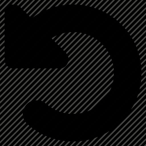 arrow, back, revert, rotate, undo, web icon