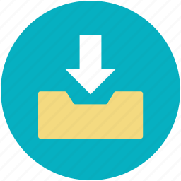 arrow indication, download, downloading, web app, web element icon