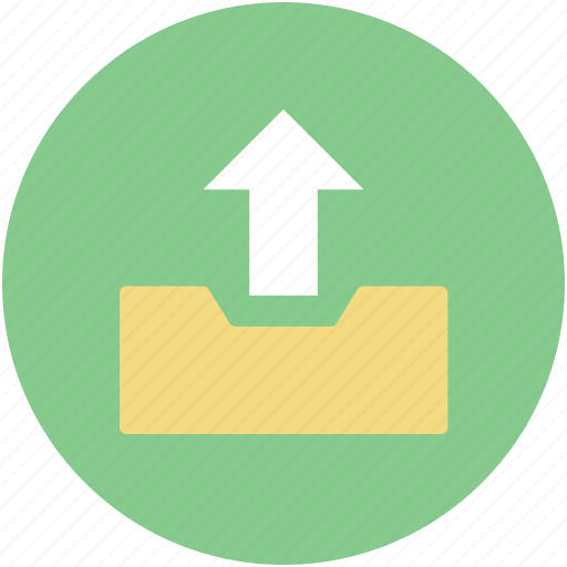 Arrow indication, upload, uploading, web app, web element icon - Download on Iconfinder