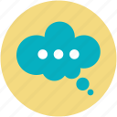 communication, modern communications, online communications, speech bubble, speech cloud icon