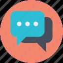 chat balloon, chat bubble, comments, speech balloon, speech bubble