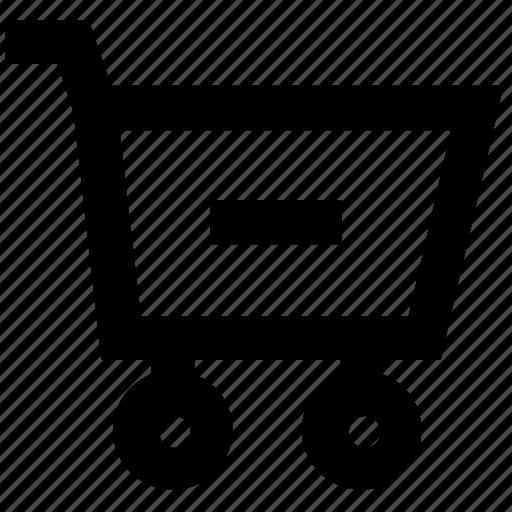 basket, buy, cart, ecommerce, minus, shopping, trolley icon