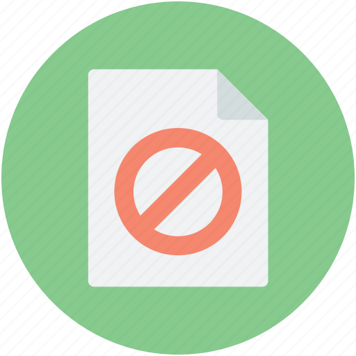 ban sign, page, restricted site, web element, wrong access icon