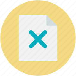 canceled, delete page, file, web element, web page icon