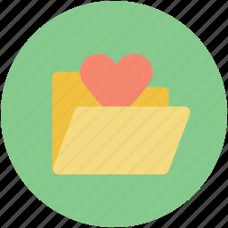 computer folder, computing, folder, heart sign, webelement icon