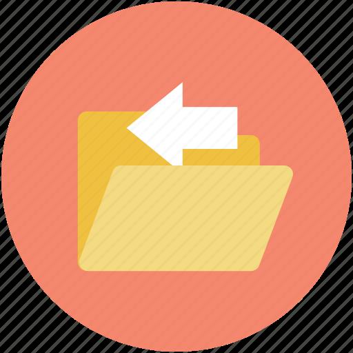 back arrow, computer folder, computing, folder, webelement icon