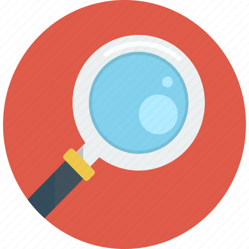 look up, magnifier, search icon