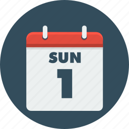 calendar, day, month, time, year icon