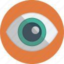 visible, see, eye, view icon