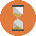 hourglass, sand, time icon