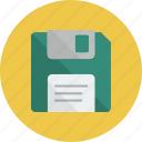 diskette, floppy, floppy disk, guardar, save icon