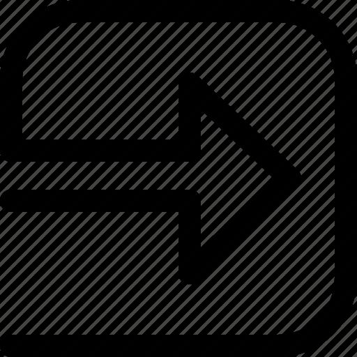 arrow, enter, sign in icon