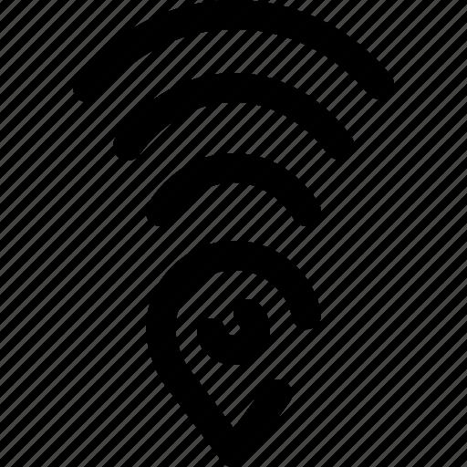 gps, hotspot, location, signal icon