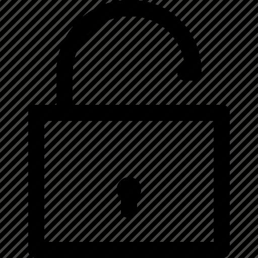 open, padlock, password, security, unlock, unlocked icon