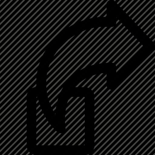 arrow, send, sign in icon