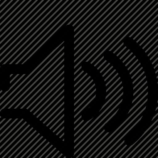 music, noise, sound, speaker, volume icon
