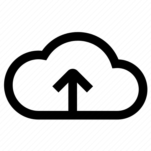 arrow, cloud, up, upload, web icon