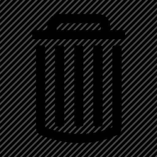 can, delete, element, trash, ui, web icon