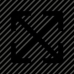 arrow, doodle, enlarge, expand, size, web icon