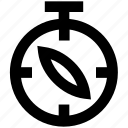 alarm, clock, compass, direction, watch icon