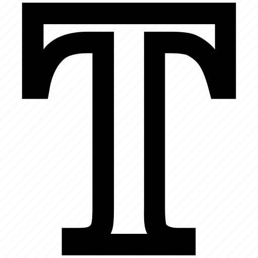abc, alphabet, english, font, letter, t, word icon