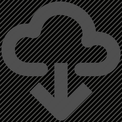 app, cloud, down, download, web, website icon