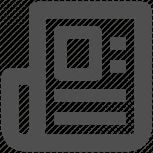 app, article, newspaper, paper, web, website icon