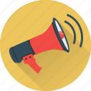 ad, ads, advertisement, megaphone, message, talk icon