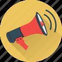 ad, ads, advertisement, megaphone, message, talk icon