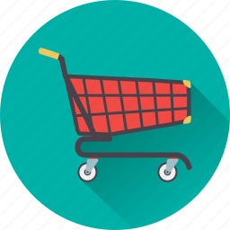 basket, cart, red, shopping icon