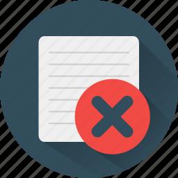 buttons, cancel, delete, error, remove icon