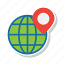 earth, globe, gps, location, navigation, world icon