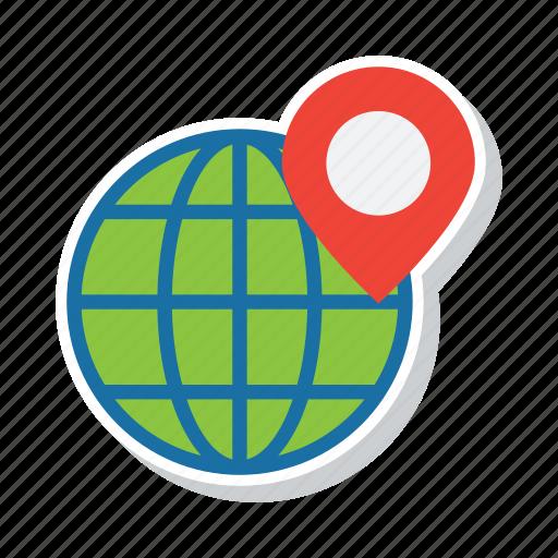 earth, globe, gps, location, navigation, world icon