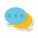 bubble, chat, communication, conversation, dialogue, messaging icon
